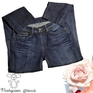 Pepe Jeans Slightly Distressed Blue Jeans Denim